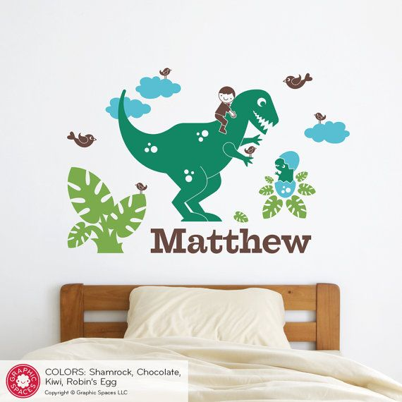 Dinosaur Name Decal Boy T Rex Personalized Name Wall Decal Baby Nursery  Room Decor Dino Room Theme Art Decorations  LARGE SIZE. Best 25  Name wall stickers ideas on Pinterest   Wall letter