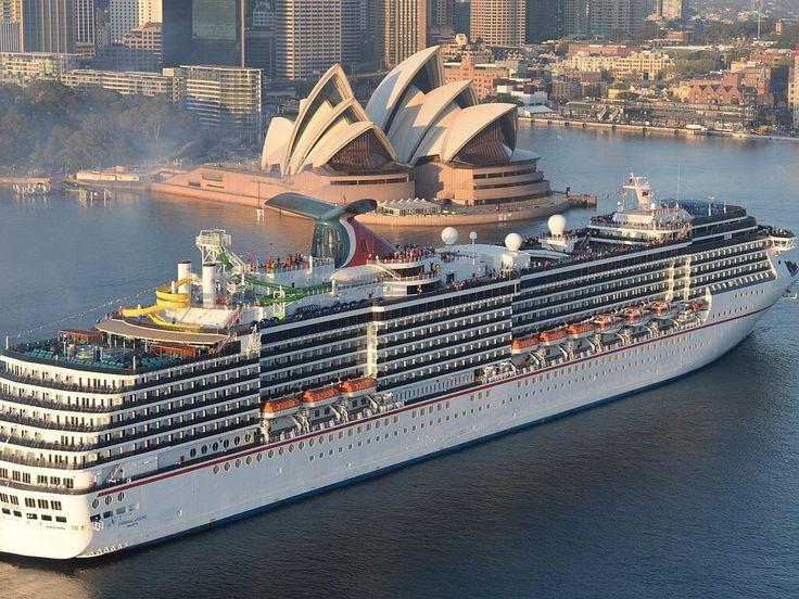 Carnival Legend super cruiser arrives in Sydney Harbour. 22nd Sept 2014.