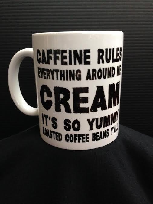 C.R.E.A.M - 11 oz Ceramic Coffee Cup Mug CAFFEINE Wu Tang Clan ODB Hip Hop Funny