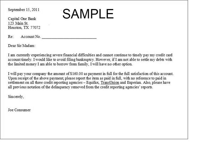 Printable Sample Settlement Letter Form