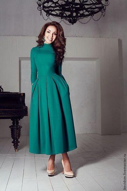 платье трикотажное Изумруд - повседневное платье,трикотажное платье,платье на каждый день