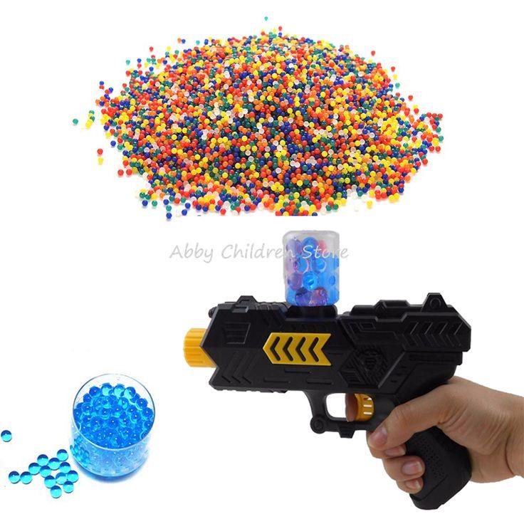 3000 Pcs Warna Kristal Air Peluru Lembut Pistol Peluru Paintball Pistol Mainan Arma Orbeez Arme Mabuk Udara Pisol Mainan untuk anak