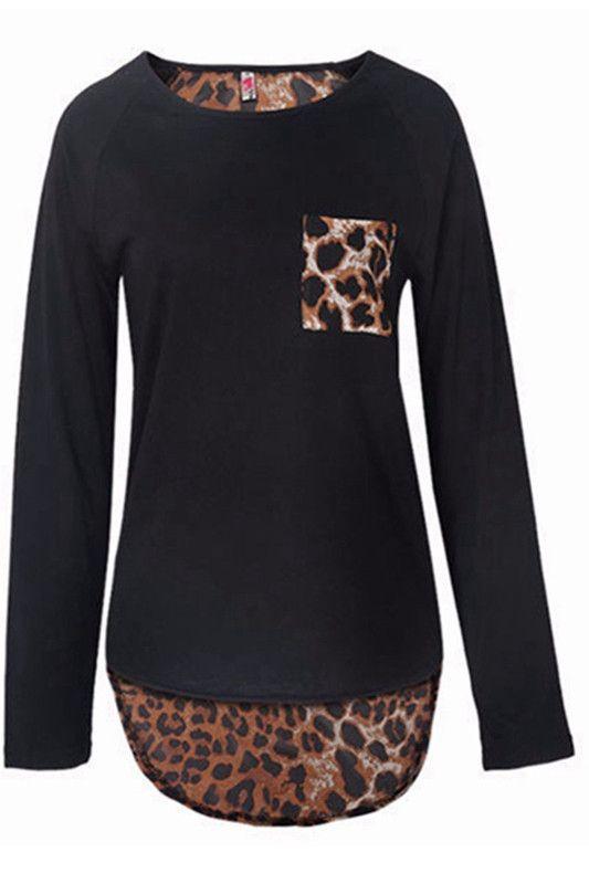 Bold Leopard Print Long Sleeve Top