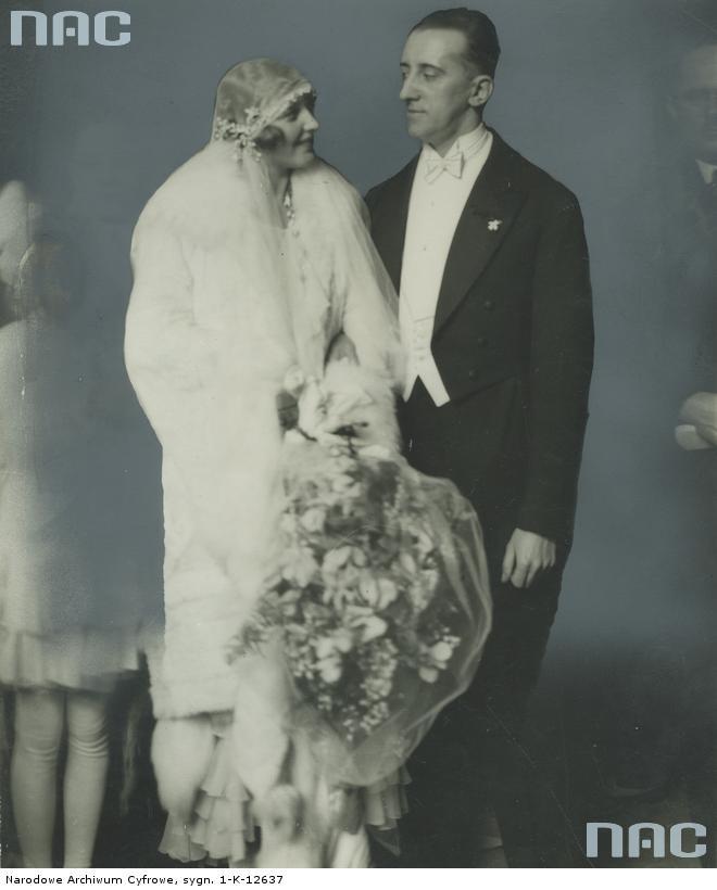 Miss Polonia 1929 Władysława Kostakówna z mężem Leonem Śliwińskim, 1930
