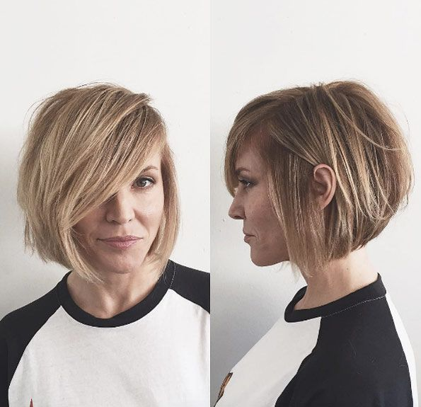 Side parted bob by Dominick Serna