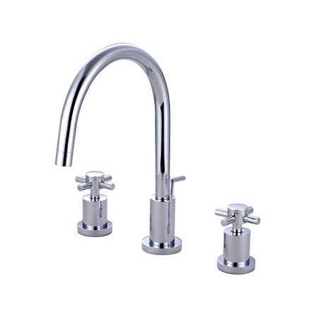 View the Kingston Brass KS892.DX Concord Widespread Bathroom Faucet with Brass Pop-Up Drain Assembly and Metal Cross Handles at FaucetDirect.com.