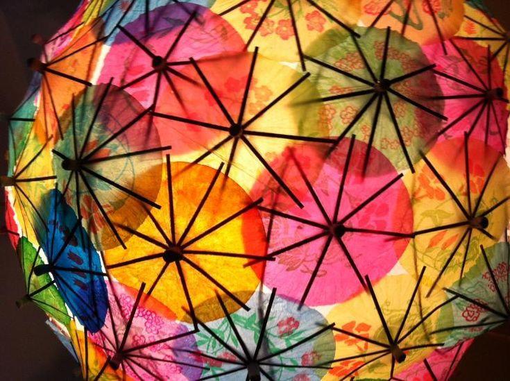 I love this take on the paper lantern :): Craftsi Member, Crafts Ideas, Umbrellas Lanterns, Paper Lanterns, Art Inspiration, Cocktails Umbrellas, Crafts Projects, Paper Crafts, Crafts Cocktails