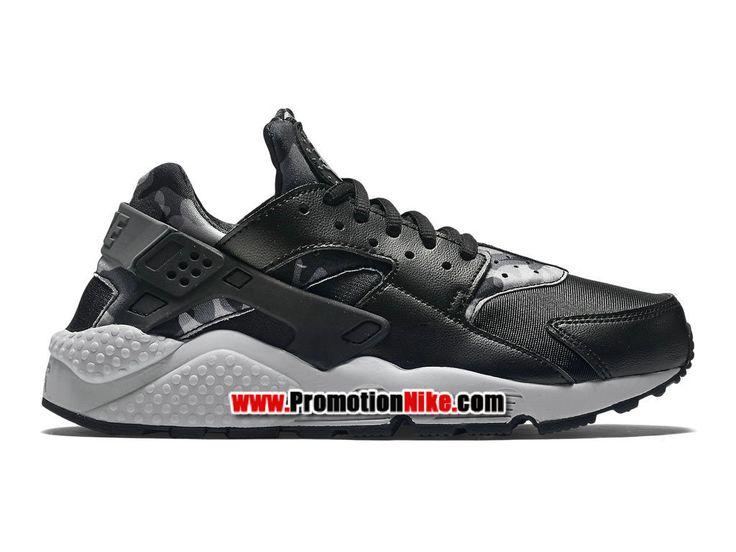 Nike Air Huarache Run Print Chaussure Nike Sportswear Pas Cher Pour Homme  Noir 725076-003H