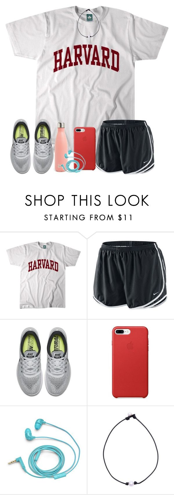 """""""gym w/ babe!"""" by arieannahicks ❤ liked on Polyvore featuring NIKE and FOSSIL"""