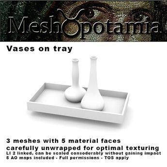 Meshopotamia Vases on tray w AO textures