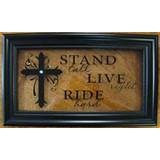Image detail for -Black Frame with Glass Western sayings with Crystal Bling,