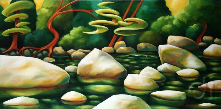 Lynn Creek 24 x 48 2007 oil on canvas