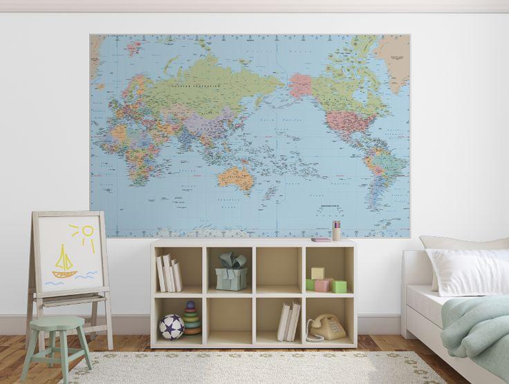 Mejores 10 imgenes de maps wallpaper murals en pinterest papel de pickawall removable wallpaper world map gumiabroncs Choice Image