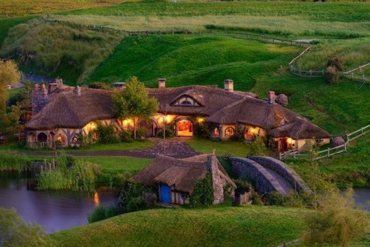 The hobbit pub is located in the tourist village of Hobbiton near Matamata, New Zealand. The pub actually was made for exciting experiences where the pub was created really like for hobbit.