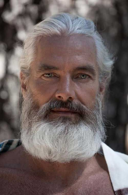 guy with white hair mens