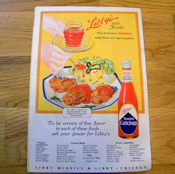 Vintage advertising Libbys Catsup and Lucky by TreasuresFromTexas, $8.00