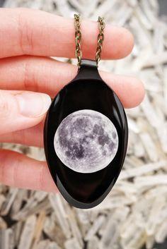 3d Moon On Black Spo Handmade Jewelry Pinterest Jewelry