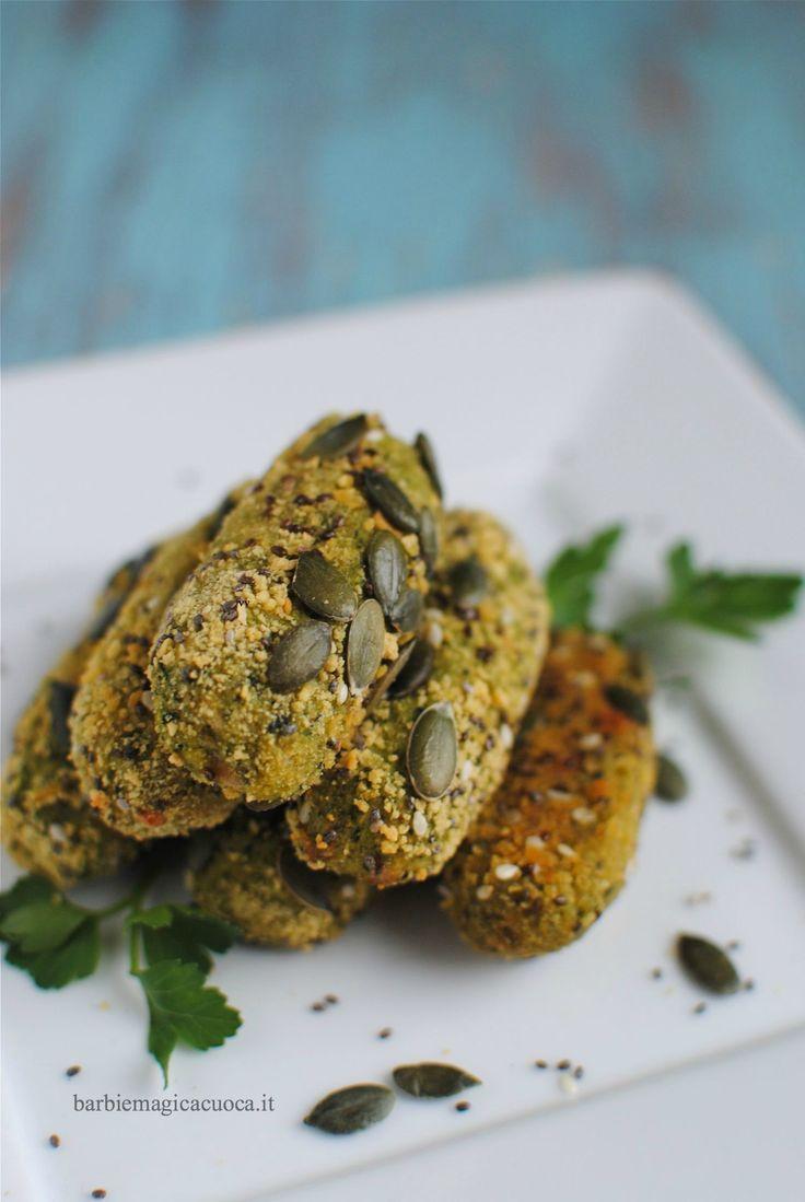 Crocchette di broccoli e patate, la ricetta facile e veloce, light e senza uova e senza frittura per delle crocchette golose, croccanti fuori e morbide dentro.
