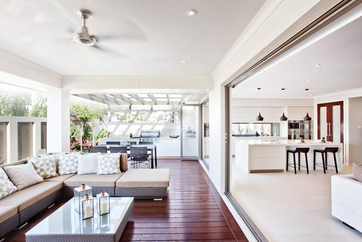The Oasis house design by McDonald Jones. Exclusive to Queensland. Alfresco Entertaining Area. #alfresco #brisbane #queensland #luxuryhome #outdoorroom #mcdonaldjones