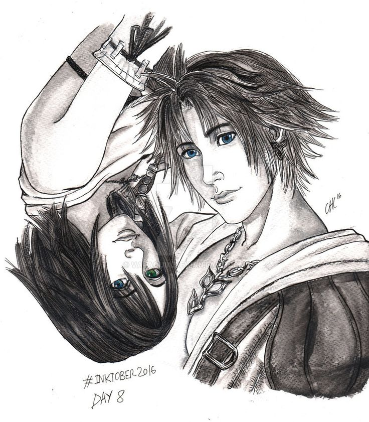 Inktober2016 - Day 8-  F is Final Fantasy X by Valaquia.deviantart.com on @DeviantArt