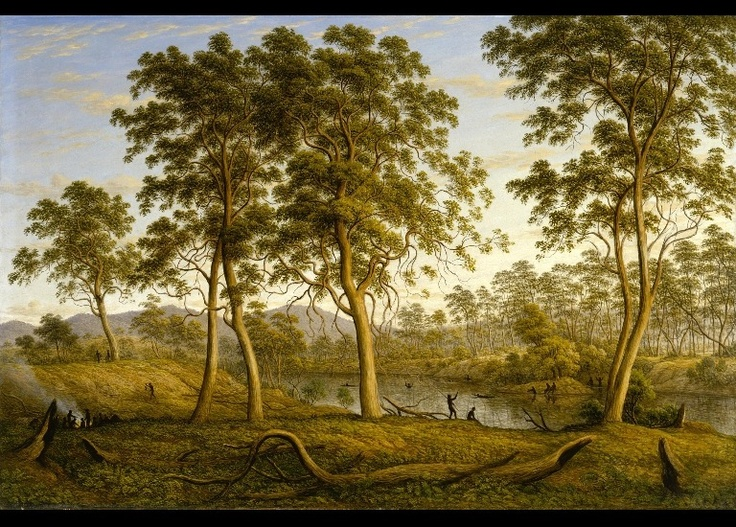 John Glover - Natives on the Ouse River