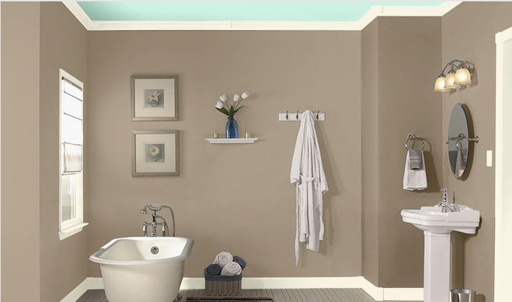 Bathroom wall color sea lilly by valspar home style Bathroom wall paint designs