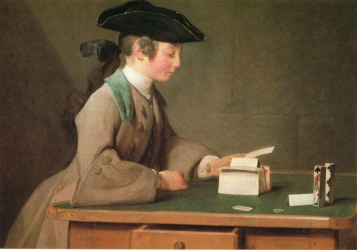 Castello di carte-1737Jean-Baptiste-Siméon Chardin-Castello di Carte- olio su tela-National Gallery-Londra