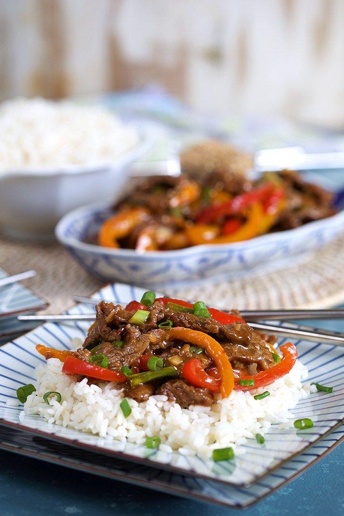 Super Easy Mongolian Beef Stir Fry The Suburban Soapbox Recipe Beef Stir Fry Beef Stir Fry Recipes Mongolian Beef