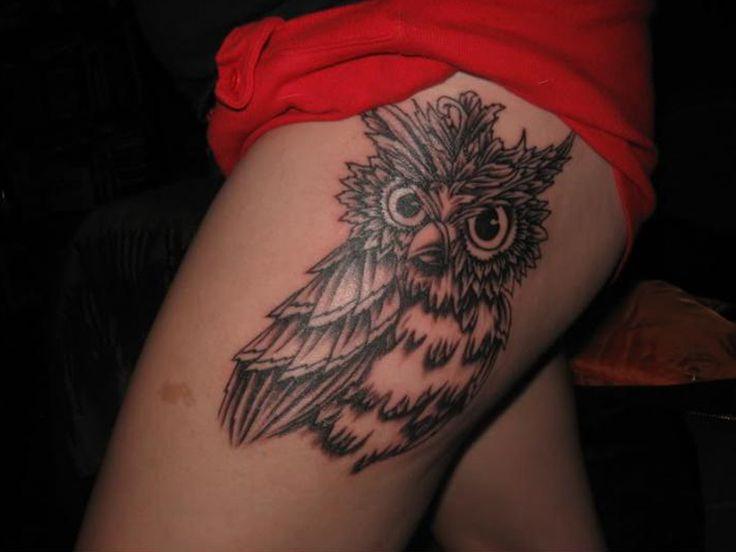 Cute Thigh Tattoos for Women   Owl Tattoo On Thigh Girl Design For Girls Tattooan Design 1280x960 ...