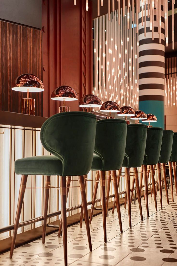 The fantastical renovation of Hotel Pullman Berlin Schweizerhof references the nearby zoo and turns the Bauhaus aesthetic on its head. #restaurantdesign