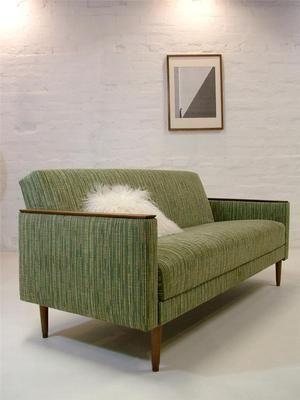 Rare transformable sofa bed retro vintage day danish era for Sofa bed 60s