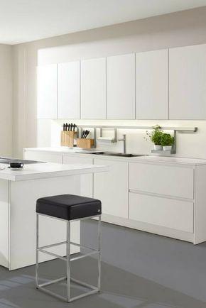 Küche in Weiß matt oder Hochglanz? Was ist besser Küche Pinterest - Küchen Weiß Hochglanz