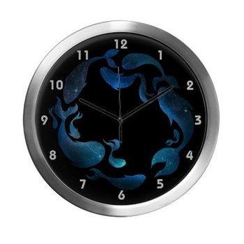 Aquatic Galaxy Modern Wall Clock from cafepress store: AGPaintedBrushT-Shirts. #clock #fish #galaxy