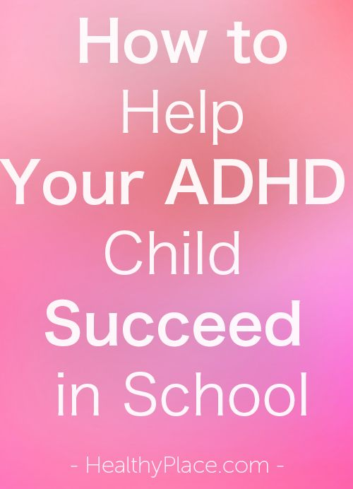 """""""ADHD can affect your child's success in school.  ADHD symptoms, iinattention, impulsiveness and hyperactivity, get in the way of learning. Discover how parents can help their ADHD child."""" www.HealthyPlace.com"""