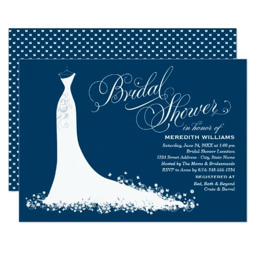 193 besten wedding gown themed invitations bilder auf pinterest, Einladung