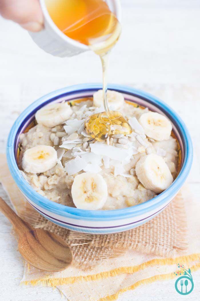 Quinoa Breakfast Bowl with bananas + honey