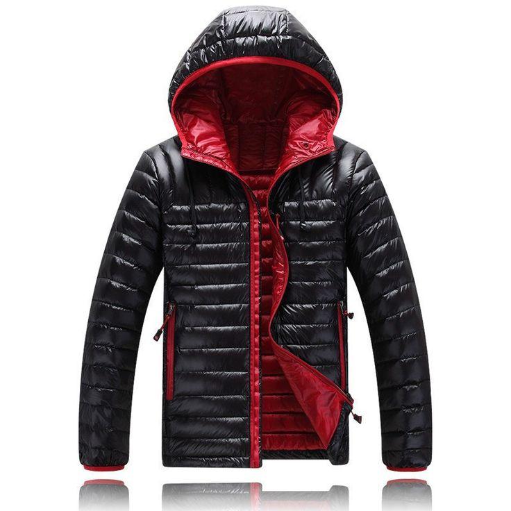 Men's Parkas winter Coat Hood