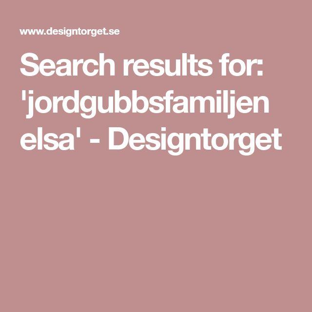 Search results for: 'jordgubbsfamiljen elsa' - Designtorget