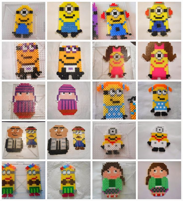 Despicable Me Perler Beads by Alexis aka MOM