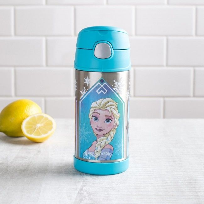 This Thermos Funtainer won't turn your water to ice but it will keep it cold! With a built in straw, double wall vacuum insulation and a push button lid, you'll be able to stay cool even when Olaf starts to melt!