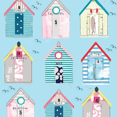 beach huts card design by Anna Victoria with Gibson Holt http://www.anna-victoria.co.uk/page8.htm http://www.gibsonholt.co.uk/public.php?page=1
