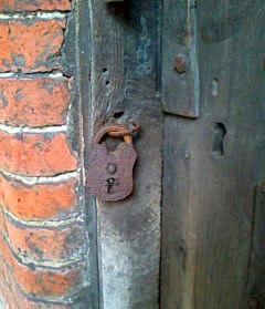 An old door lock, Old Amersham, Bucks.