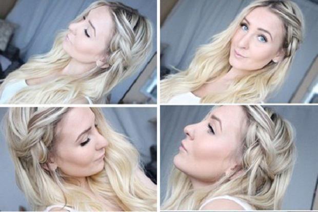 Прическа на длинные волосы коса на боку