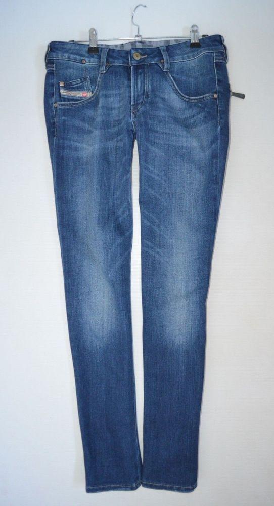 ce312ec1 womans DIESEL CLUSH low rise slim taper leg JEANS ladies W29 L30 size uk 10