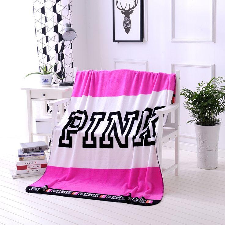 Rose Rood Victoria Merk VS Secret Roze Deken Warme Zachte Coral Fleece Gooit Bed Sofa Thuis Dekens 130x150 cm Size Drop verzending
