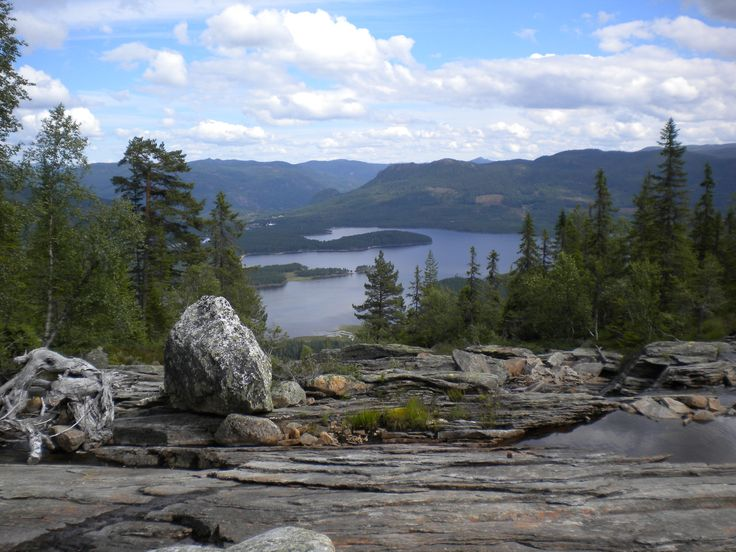 View from hiking on Skrede Mountain