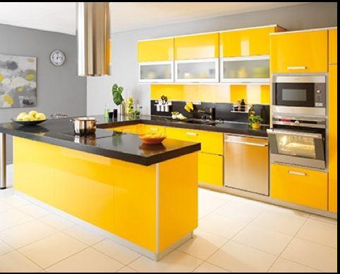les 25 meilleures idées de la catégorie murs de la cuisine jaune