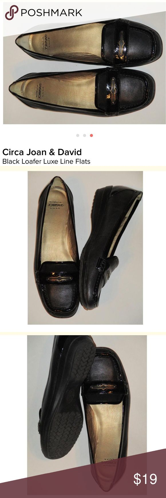 Circa Joan & David Luxe Black Leather Loafer SZ 8 Gorgeous!! Joan & David Shoes Flats & Loafers