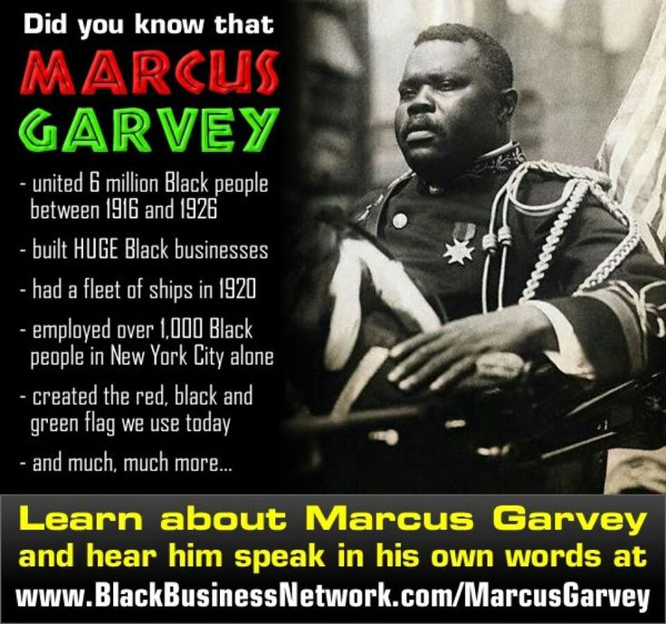 The life and works of marcus mosiah garvey