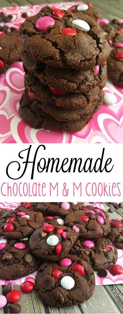 Homemade Chocolate M & M Cookies